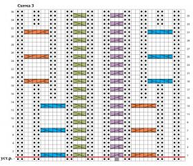 Кардиган с аранами Арья - Схема 4