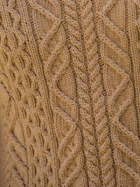 Классический пуловер с аранами - Фото 1