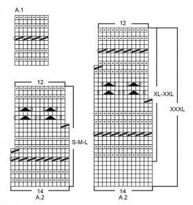 Джемпер хрустальный блеск - Схема 1
