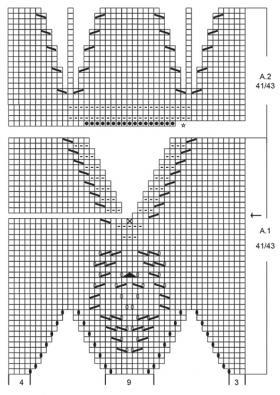 Тапочки снежная сказка - Схема 4
