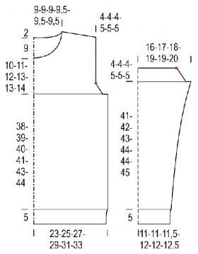 Свитер Зеленый горошек - Выкройка 1