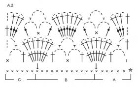 Летняя ажурная майка борцовка крючком - Схема 4
