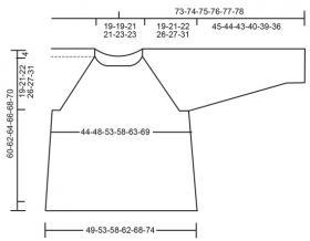 Джемпер зимняя грация - Выкройка 1