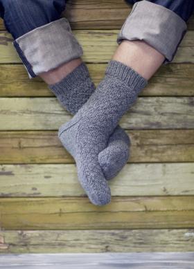 Мужские носки с теневым узором