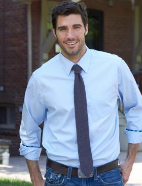 Узкий мужской галстук