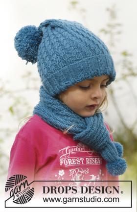 Шапка и шарф спицами с диагональной резинкой
