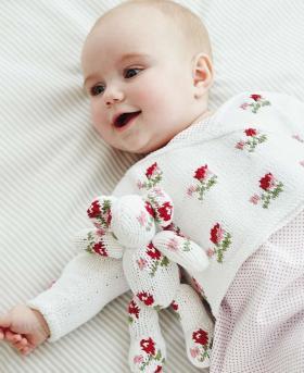 Жакет с розами для малыша