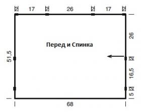 Свободный прямоугольный топ крючком - Выкройка 1
