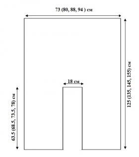 Ажурная туника крючком для отдыха - Выкройка 1