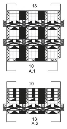 Свитер Белая ива - Схема 2