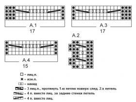 Приталенный жакет спицами на пуговицах - Схема 1