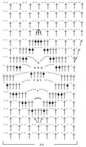 Летняя ажурная майка борцовка крючком - Схема 2