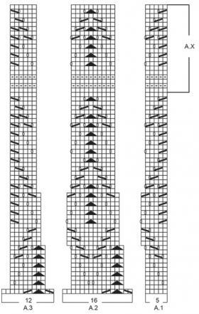 Шарф весенний румянец - Схема 1