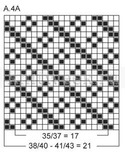 Жаккардовые носки с диагональным узором - Схема 3