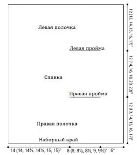 Жилет Ла-Манш - Выкройка 1