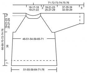 Пуловер Удача моряка - Выкройка 1
