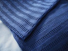 Одеяло с узором чулочная вязка