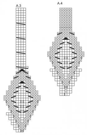 Берет и снуд с ажурными листьями - Схема 2