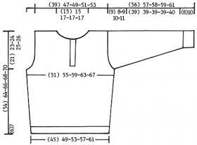 Пуловер с капюшоном - Выкройка 1
