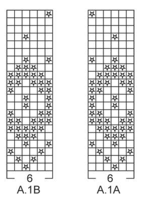 Тапочки с жаккардовым узором - Схема 1