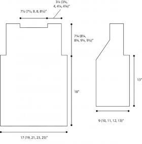 Удлиненный жилет платочным узором - Выкройка 1