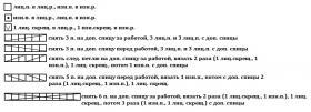 Кардиган Аврора - Схема 1