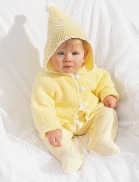 Желтый жакет с капюшоном