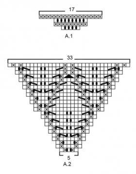 Шаль шалфейное блаженство - Схема 2