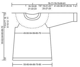 Пуловер Мина - Выкройка 1