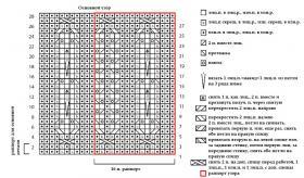 Топ с ажурным узором и вырезом каре - Схема 1