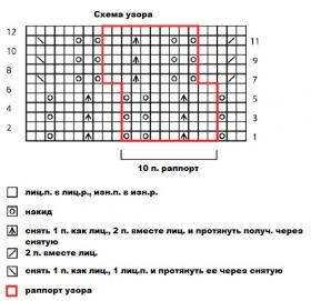 Топ морской еж - Схема 1