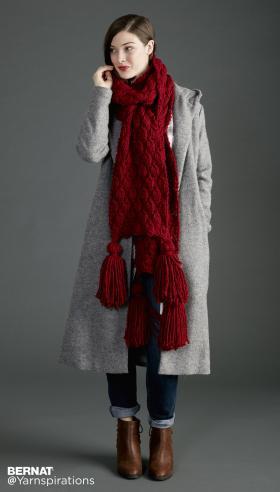 Супер шарф с объемными ромбами - Фото 2