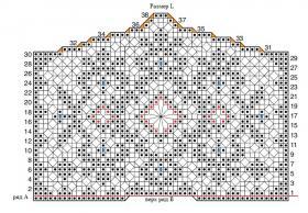 Свадебное болеро крючком филейным вязанием - Схема 3
