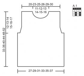 Безрукавка с теневым узором - Выкройка 1
