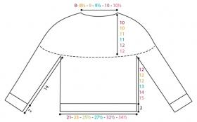 Пуловер На повторе - Выкройка 1