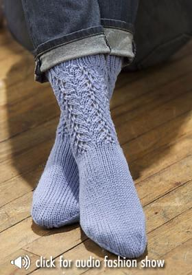 Носки с ажурным узором - Фото 1