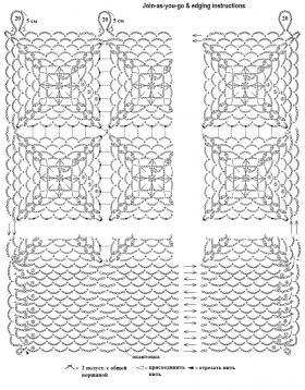 Кружевные занавески из мотивов - Схема 2