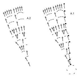 Шарф морские ракушки - Схема 1