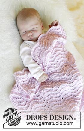 Детский плед волнистым узором
