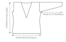 Свитер с V-образным декольте на спине - Выкройка 1