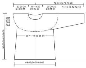 Жакет с круглой кокеткой со жгутами и ажуром - Выкройка 1