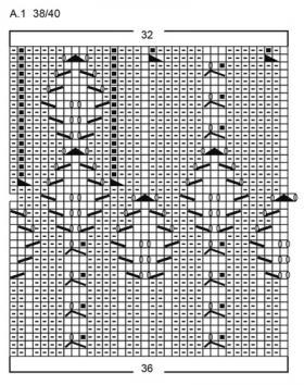 Носки Сердце викинга - Схема 4