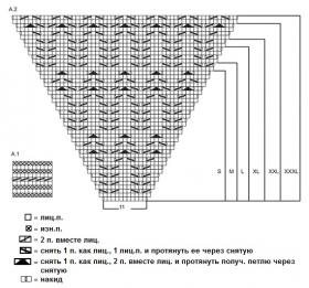 Джемпер морская нимфа - Схема 1