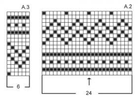 Белый жакет спицами с круглой кокеткой - Схема 2