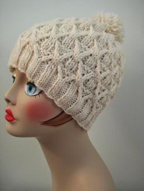 Шапка плетенка - Фото 2