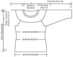 Пуловер в полоску с круглой кокеткой - Выкройка 1
