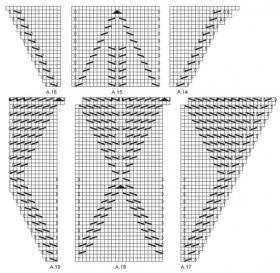 Легкая шаль с ажурными листьями - Схема 3