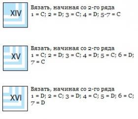 Графичное покрывало спицами из квадратов - Схема 3