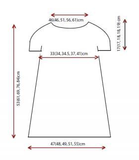 Платье спицами с круглой кокеткой жаккард - Выкройка 1