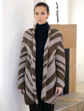Полосатое пальто узором рис